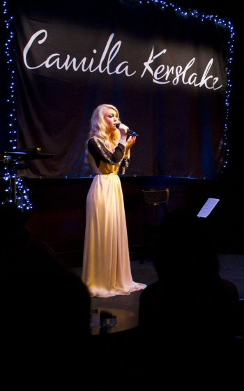 Camilla Kerslake performing at St. James Theatre; 19th November, 2012. Image taken by Chloe Isherwood.