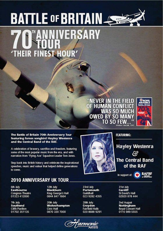 Battle of Britain Hayley Westenra Tour